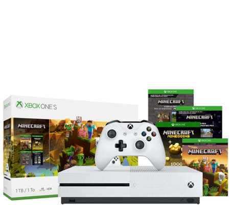 Xbox One S 1TB Minecraft Bundle with 3 Months of Xbox Game Pass
