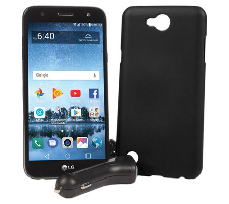 Tracfone LG Fiesta 2 Smartphone w/ Case & 1200 Min/ Text/ Data
