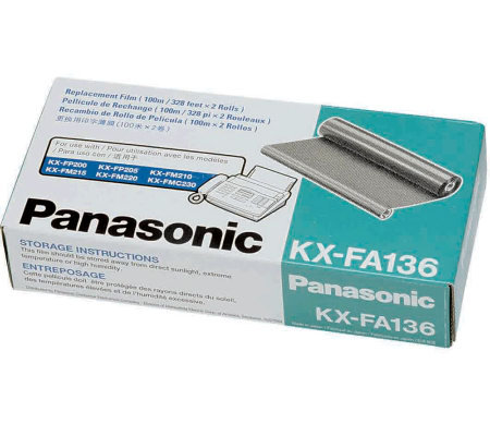 Panasonic 100M Black Film Roll - 2-Pack