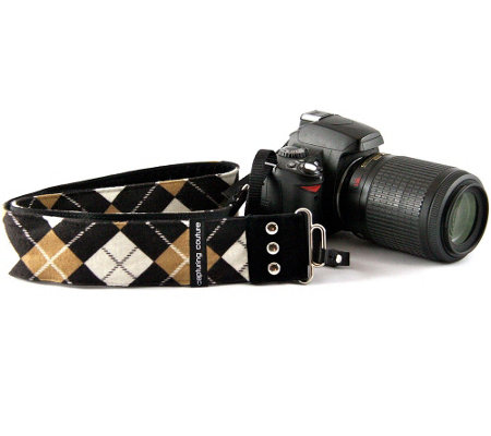 Capturing Couture Joey Argyle Print Adj. Camera Strap