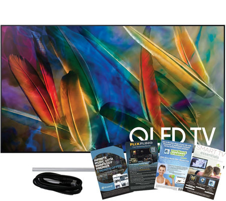 "Samsung 65"" QLED Smart Q4K HDR Elite TV w/ HDMIand App Pack"