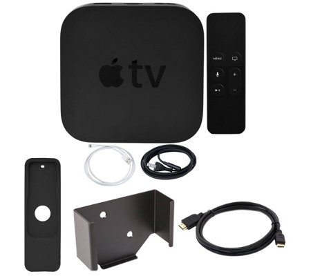 Apple TV 4K 64GB with Wall Mount and HDMI Cable