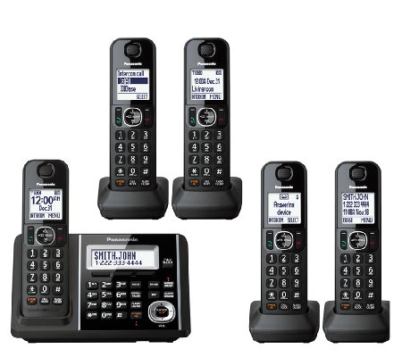 Panasonic Expandable Answering System with FiveHandsets