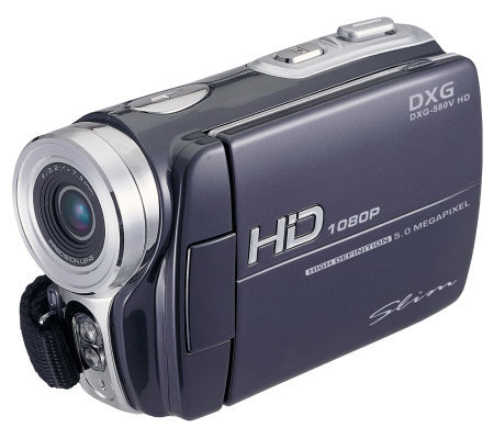 dxg 580v hd 5mp 3 diag lcd 4x digital camcorder silvertone qvc com rh qvc com DXG Cameras Homepage dxg 3.0 megapixel digital video camera manual