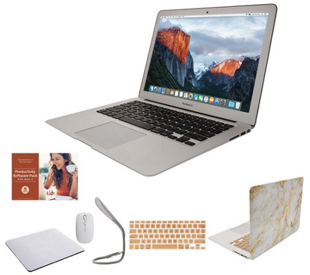 "Apple MacBook Air 13"" Laptop w/ Clip Case, Wireless Mouse and Accessories"