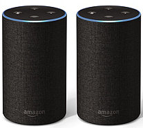 Amazon Echo 2nd Generation Speaker 2-Pack with Voucher - E232662