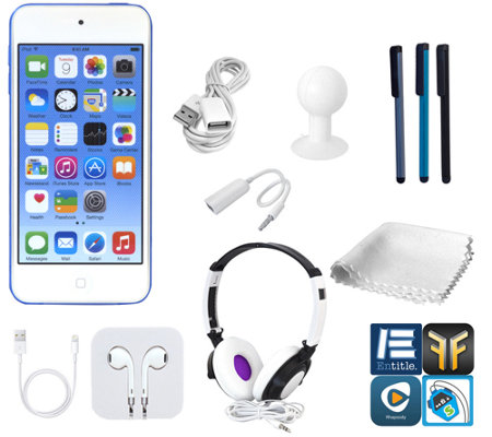 Apple iPod Touch 64GB 6th-Gen with DJ Headphones & More