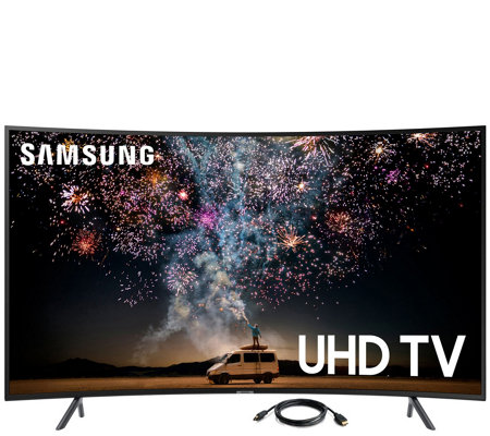 "Samsung 65"" Class Curved LED Smart 4K UHD TV &6' HDMI Cable"