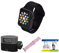 Apple Watch Series 1 42mm with iHome BluetoothAlarm Clock - E294863