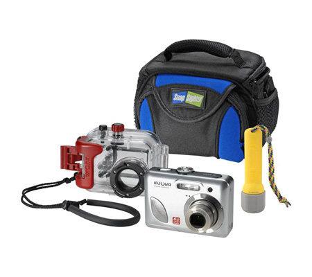 Intova 6MP Underwater Dig Camera Waterproof Flashlight Bag