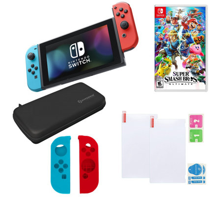 Nintendo Switch w/ Super Smash Bros & eShopCredit