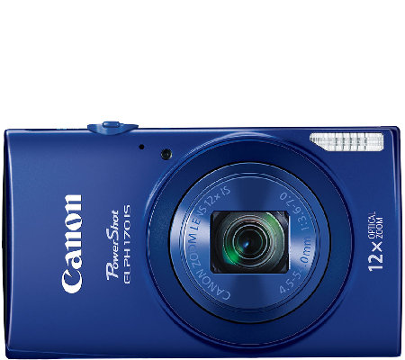 Canon PowerShot ELPH 170 IS 20 MP 12X Zoom Digital Camera