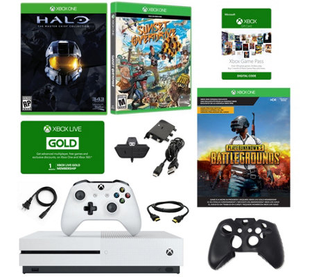 Xbox One S 1TB with PUBG, HALO & Sunset Overdrive Games