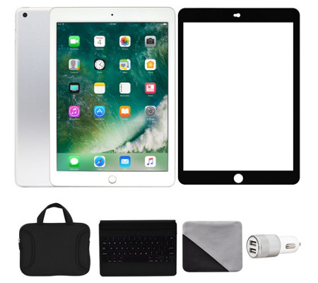 "Apple iPad 9.7"" 128GB Wi-Fi with Accessories -Silver"