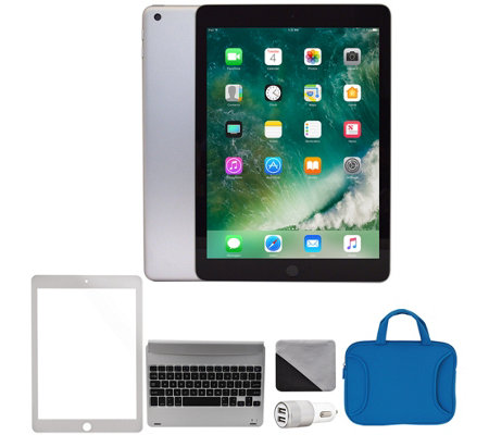 "Apple 2018 iPad 9.7"" 128GB Wi-Fi & Cellular Bundle - Silver"