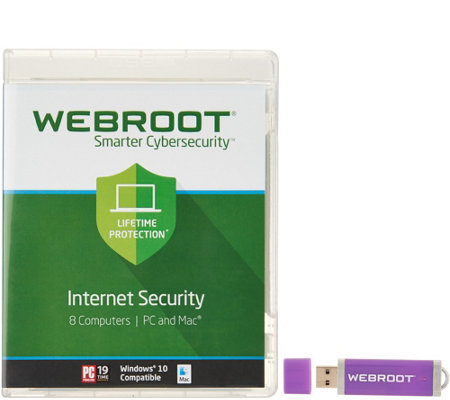 Webroot Antivirus for 8 Users PC or Mac for 7 years