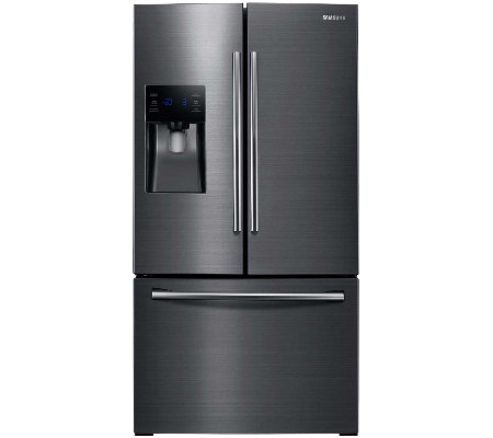 Samsung 24.6 Cubic Ft Black Stainless French Door Refrigerato