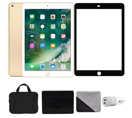 "Apple iPad 9.7"" 128GB Wi-Fi with Keyboard & Accessories - Gold"