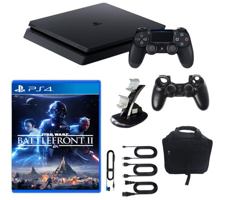 Sony PlayStation 4 1TB Slim Star Wars Battlefro nt II Bundle