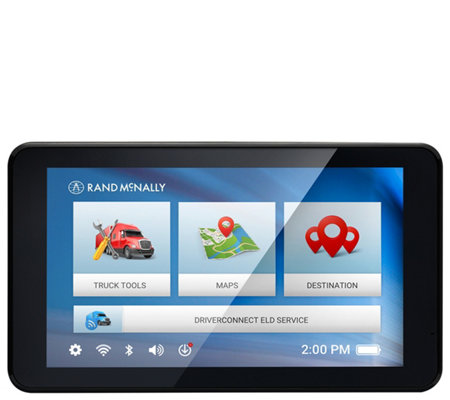 Rand Mcnally Gps >> Rand Mcnally Tnd 740 Gps Navigation For Truckswith 7 Display Qvc Com