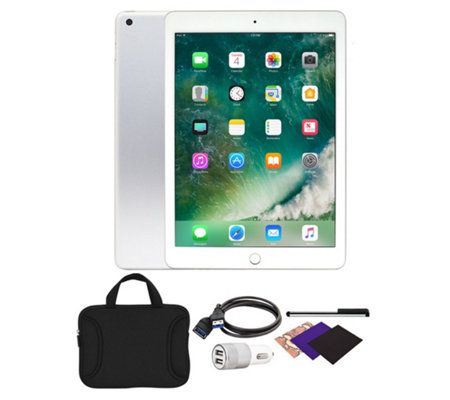 "Apple iPad 9.7"" 32GB Wi-Fi Tablet with Carrying Case and Accessories"