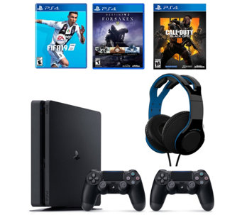 Sony PS4 1TB Bundle with 3 Games Headset   Extra Controller - E232673 04417aaf47