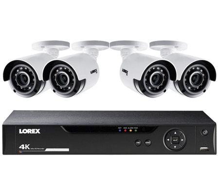 Lorex 8 Channel 4k Hd 1tb Dvr W 4 Bullet Security Cameras