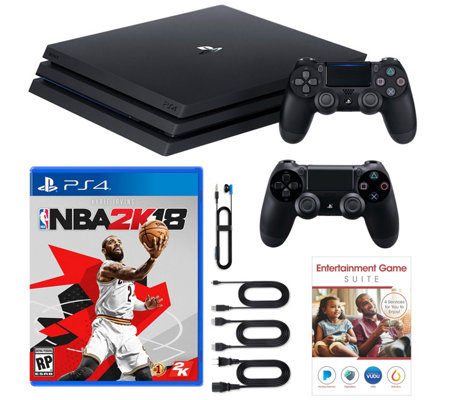 Sony PS4 Pro 1TB Bundle with NBA 2K18 and 2 Controllers