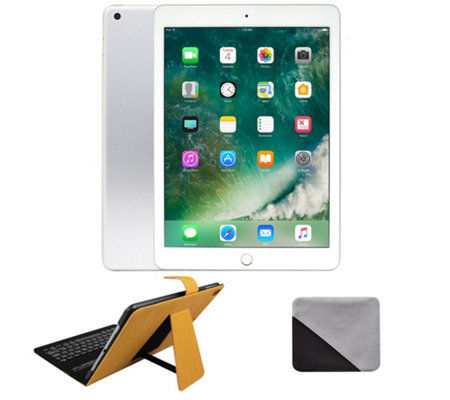 "Apple iPad 9.7"" 128GB Wi-Fi wit h Keyboard Case & Accessories"
