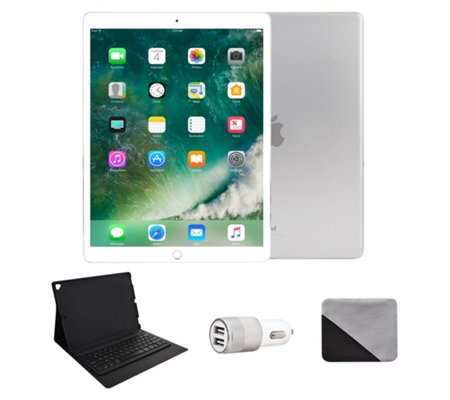 "Apple iPad Pro 12.9"" 256GB Wi-Fi & Bluetooth Keyboard - Silver"