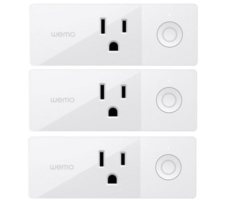 WeMo Mini Smart Plug, 3-Pack