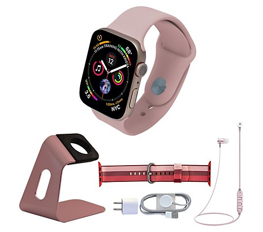 Apple Watch Series 5 44mm Gps Cellular With Accessories Qvc Com