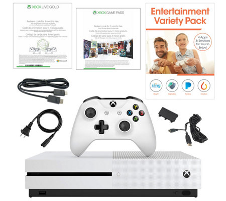 Xbox One S 1TB Bundle 3-Month Xbox Live & Game Pass, App Pack