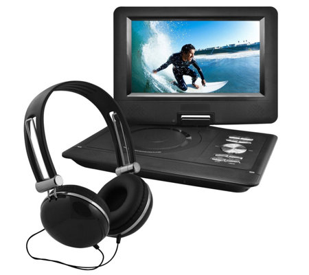 "Ematic 10"" Swivel Portable DVD with Headphones"