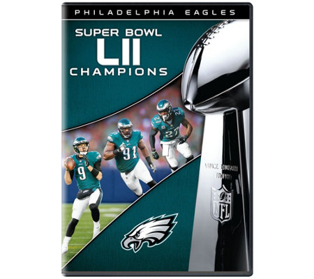free shipping a8ae0 50869 NFL Super Bowl LII 2018 Philadelphia Eagles DVD — QVC.com
