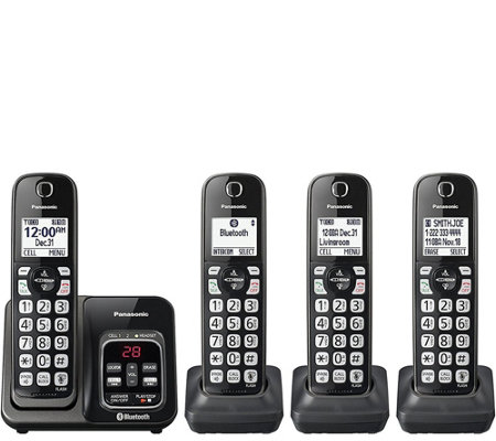Panasonic Link-to-Cell Bluetooth Cordless Phone& 4 Handsets