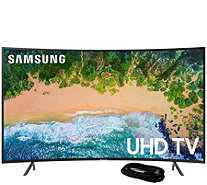 "Samsung 55"" LED Curved 4K HDR Ultra HDTV and 6'HDMI Cable - E294475"