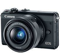 Canon EOS M100 Mirrorless Digital Camera with 15mm-45mm Lens - E295175