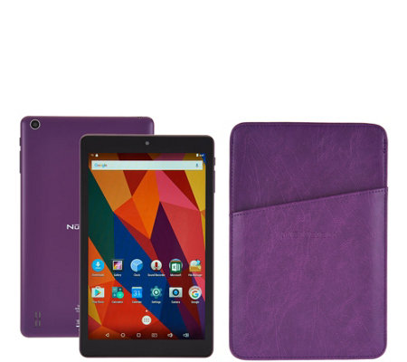 "NuVision 8"" IPS Tablet 16GB Quad Core w/ Carry Sleeve"
