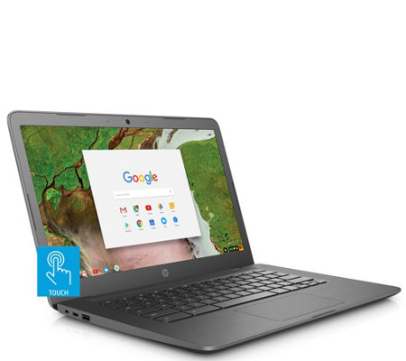"HP 14"" Touch Chromebook Intel Celeron 32GB eMMC with Software"