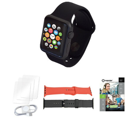 Apple Watch Series 1 38mm w/ Two Bands. Voucher, and Accessories