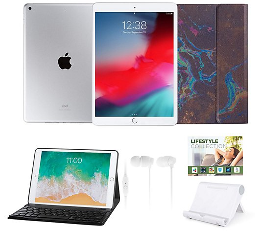 "Apple iPad 10.2"" 32GB Wi-Fi Tablet w/ Accessories & Keyboard Case"