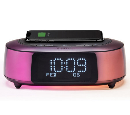 iHome iBTW281 Color Changing Bluetooth AlarmClock Speaker