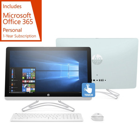 "HP 24"" Touch All-in-One PC AMD A9, 1TB HDD w/ Office 365 & Software Kit"