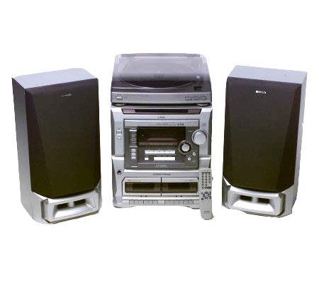 Aiwa AM/FM 3CD 60 Watt Shelf System W/ Turntable And
