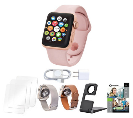 Apple Watch Series 3 38mm w/2 Extra Bands Software and Accessories