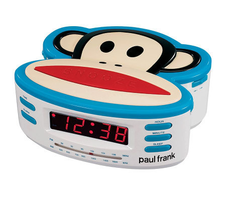 Paul Frank PF250 Single Alarm Clock Radio withBattery Backup