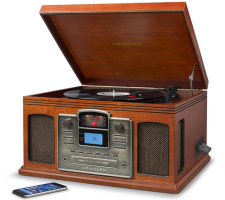 Crosley Radio Bluetooth Turntable with CD & Cassette Players