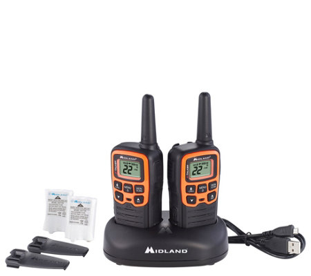 Midland Walkie Talkie >> Midland Xtalker T51vp3 Walkie Talkie Qvc Com