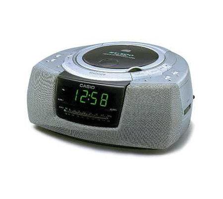 Casio Rt 500b Am Fm Cd Player Alarm Clock Radio Qvc Com